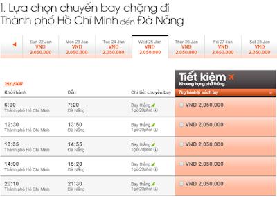 Giá vé máy bay tết đi Đà Nẵng hang Jetstar Pacific