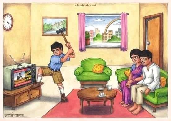 mentahan meme india memukul televisi