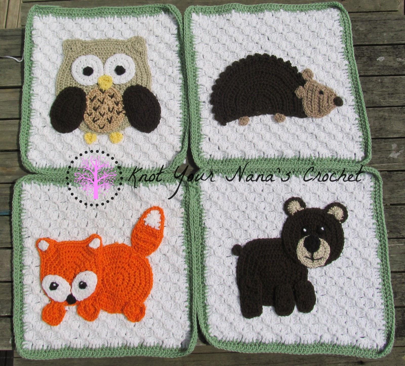 Knot Your Nana S Crochet Woodland Blanket C2c Squares