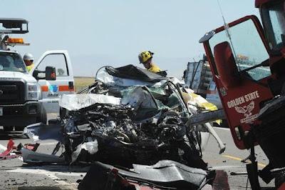 merced county highway 165 semi truck crash fatality