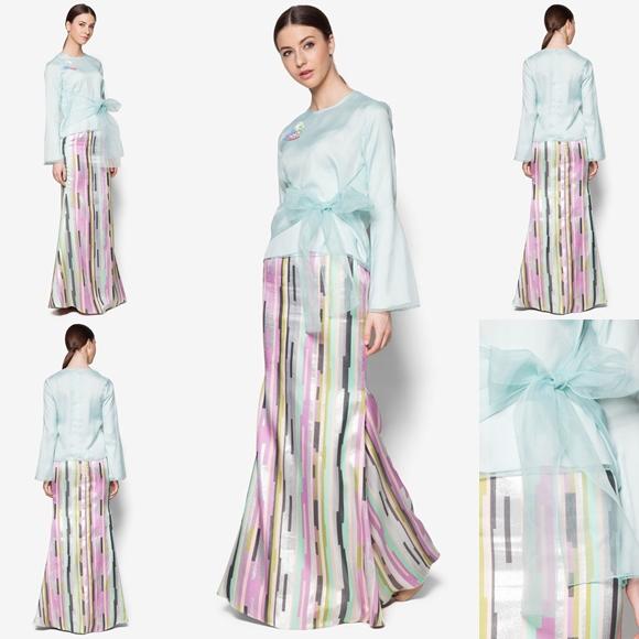 Fesyen Trend Terkini Bianco Mimosa Lioville Baju Kurung Moden Baju Raya 2017