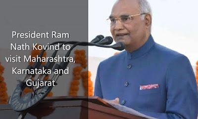 President Ram Nath Kovind to visit Maharashtra, Karnataka and Gujarat