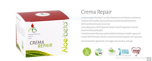 crema repair contiene Aloe Arborescens certificata biologica proveniente dalla Sicilia,