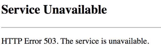 Cara Mengatasi 503 Service Unavailable Error