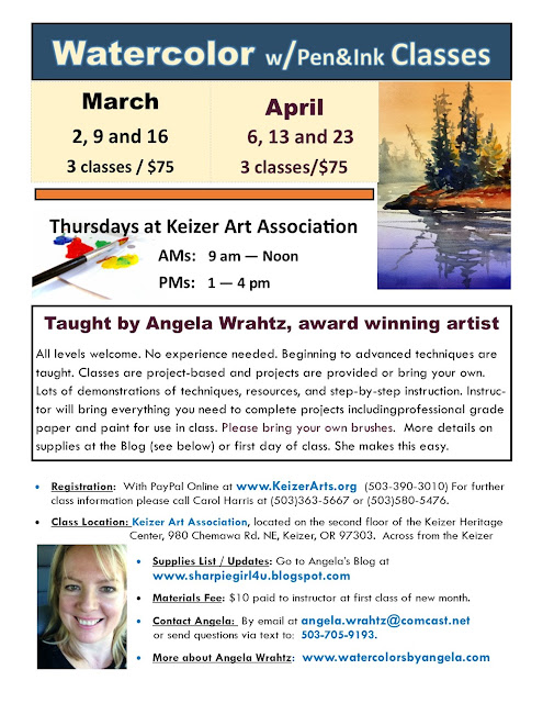 Dates for Spring 2017 Classes at Keizer Art Center