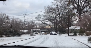 It Snowed One Inch In Raleigh So This Guy Decided To Go Street Skiing