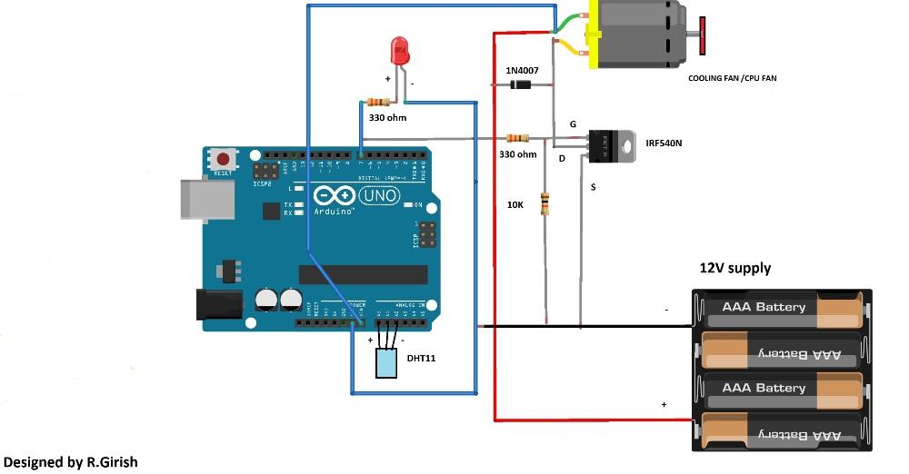 Automatic Temperature Regulator Circuit Using Arduino