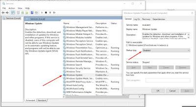 Cara Mematikan Update Windows 10 lewat service