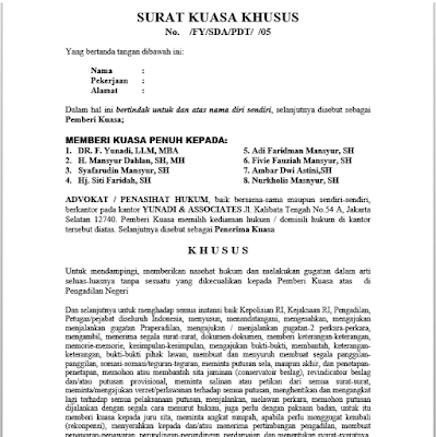 Contoh Surat Kuasa Khusus Pidana Br1m Reg