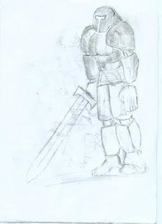 Longswordsman drawing