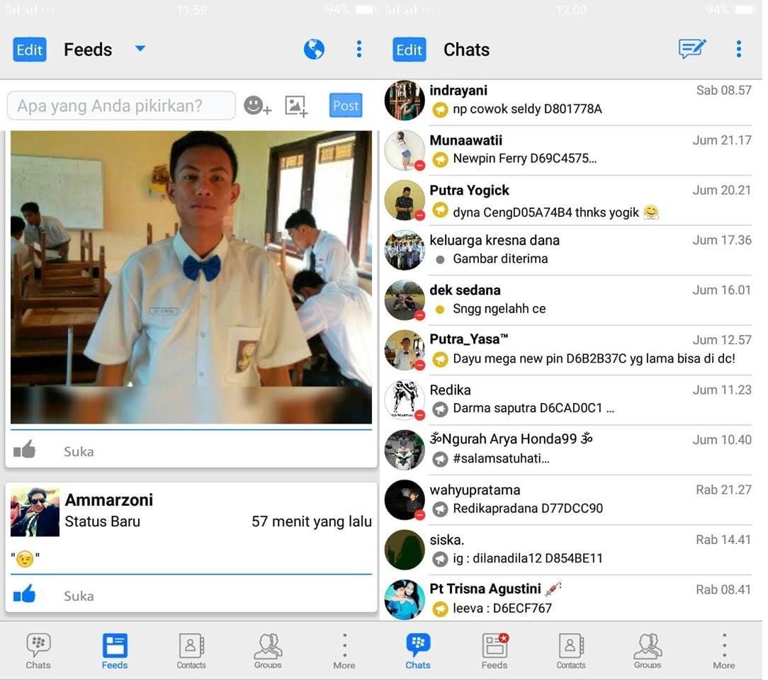 BBM Mod Tampilan iPhone Versi Terbaru
