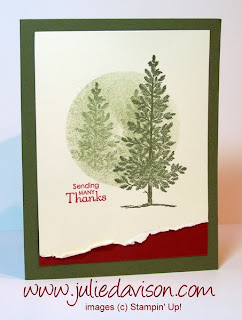 Last Chance Favorite: 7 Stampin' Up! Lovely as a Tree Cards ~ www.juliedavison.com