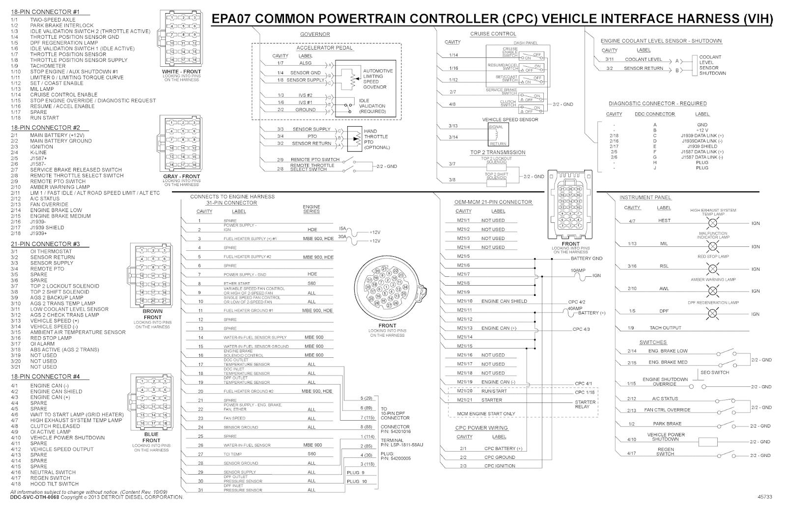 Detroit Wiring Diagrams