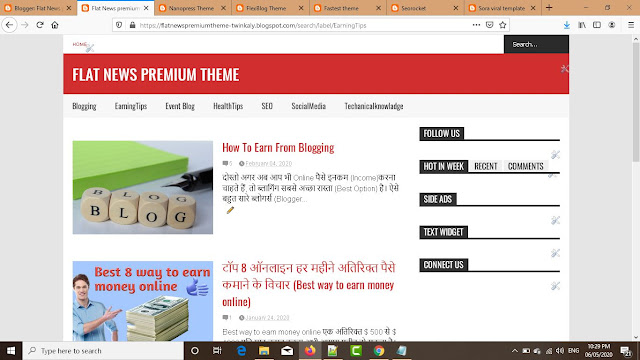 News Special Blogger Premium  Theme