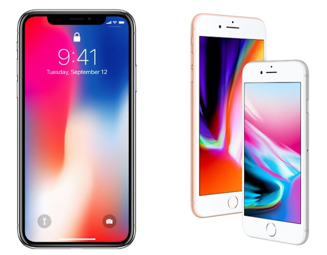 iPhone 8, 8 Plus and iPhone X display
