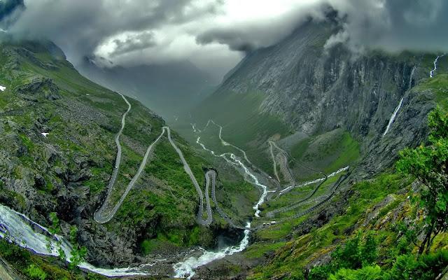Estrada nos Andes