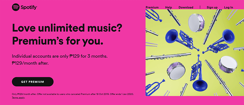 Spotify Premium holiday offer is back, PHP 129 for 3 months!