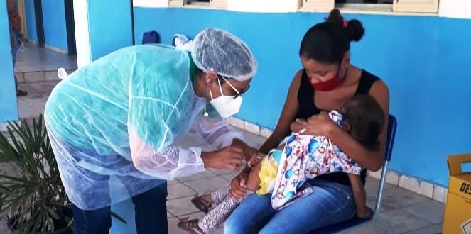 Prefeitura vacinou crianças de 6 meses a 5 anos contra influenza na Forquilha do Manso
