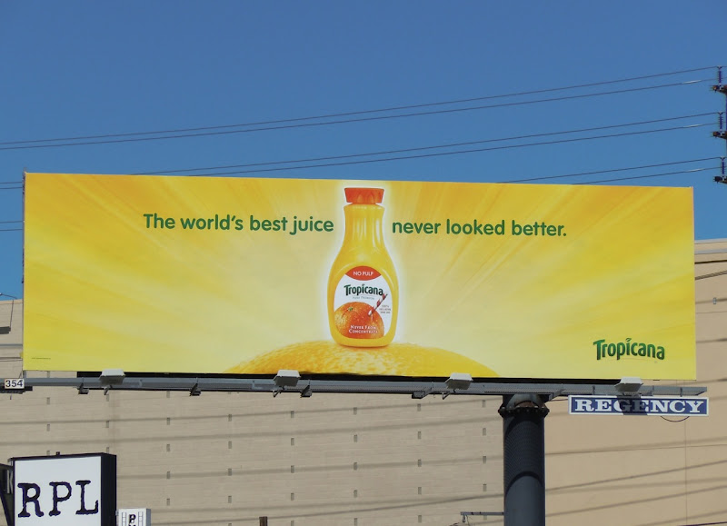 Tropicana OJ billboard