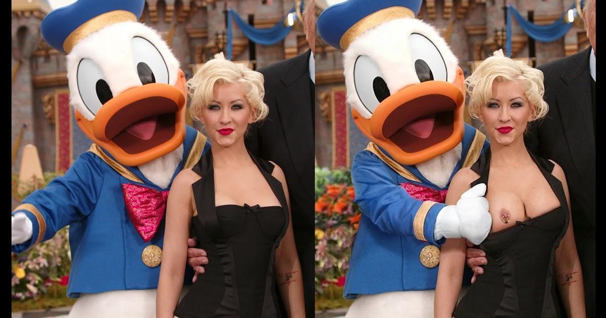 Think, that christina aguilera donald duck