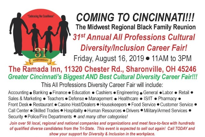 All Professions Diversity Career Job Fair - Friday, August 16, 2019