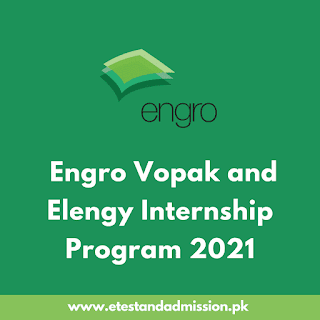 Engro Vopak and Elengy Internship Program 2021