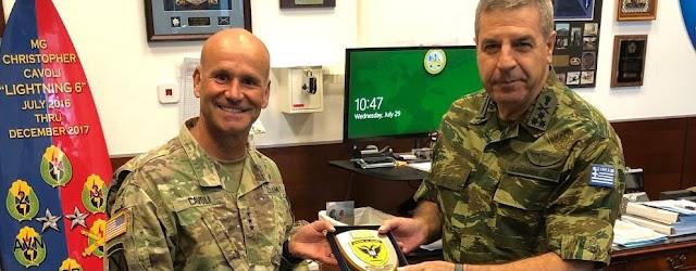 Επίσημη Επίσκεψη Α/ΓΕΣ στην Έδρα της Διοίκησης του Στρατού των ΗΠΑ στην Ευρώπη (ΦΩΤΟ)