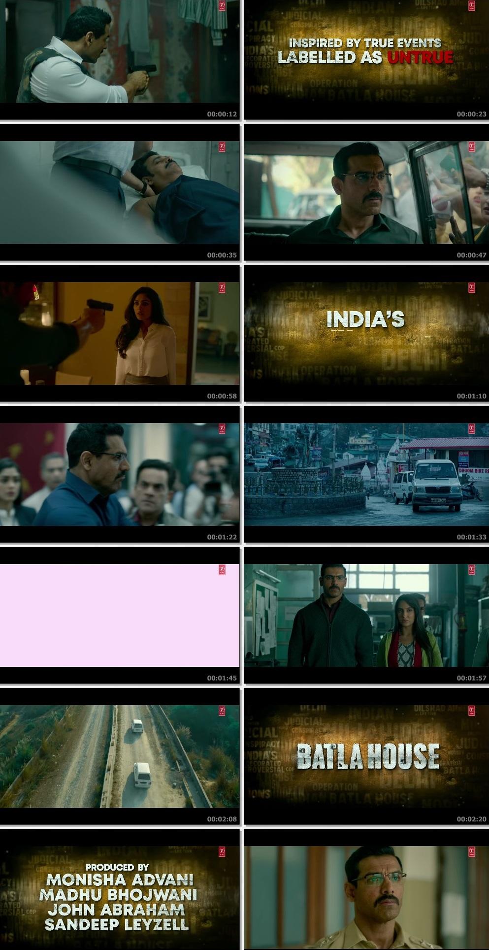 Screenshots Of Hindi Movie Batla House 2019 Trailer official 480P HD