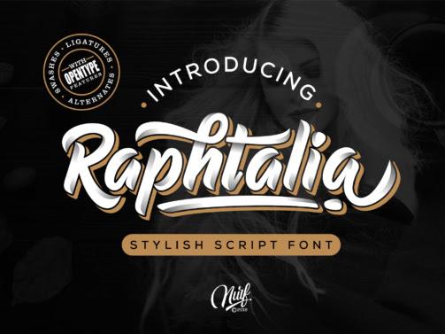 Raphtalia Bold Script Font Free Download