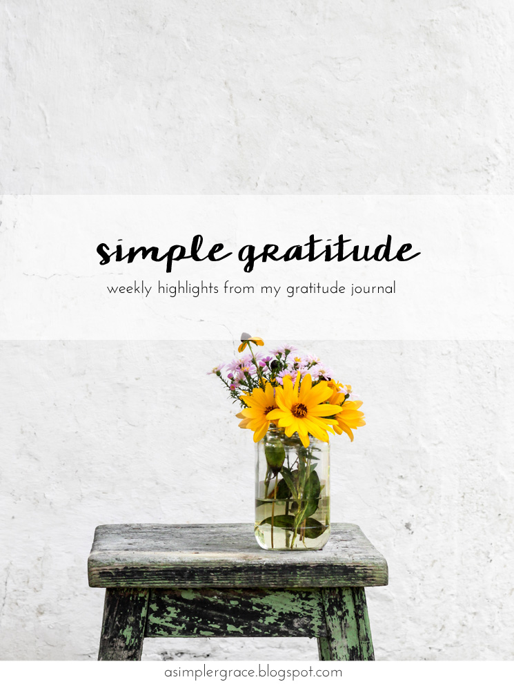 Simple Gratitude | 52 - A Simpler Grace  #gratefulheart with @embergreyblog #gratitude #feelingthankful