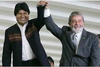 COMPARSA DE LULA RENUNCIA:Povo boliviano impede consolidação do comunismo na Bolívia. O povo brasileiro vai permitir a sandice do comunismo do PT, PC do B e PSOL no Brasil?