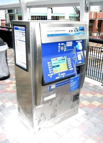 cara membeli tiket lewat ticket vending mesin