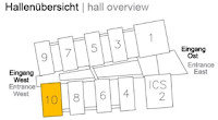 Hall Overview - Hall 10 Highlighted