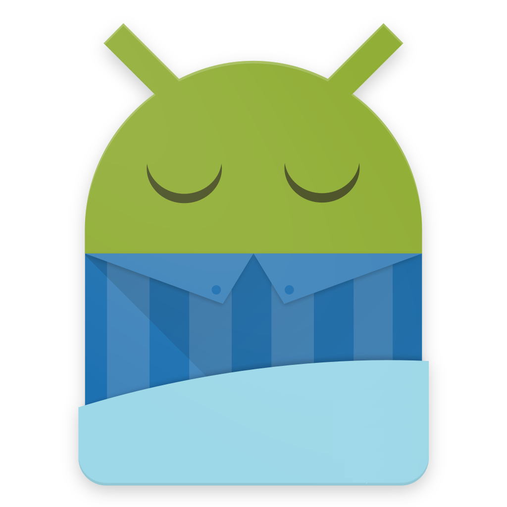 Android logo sleeping
