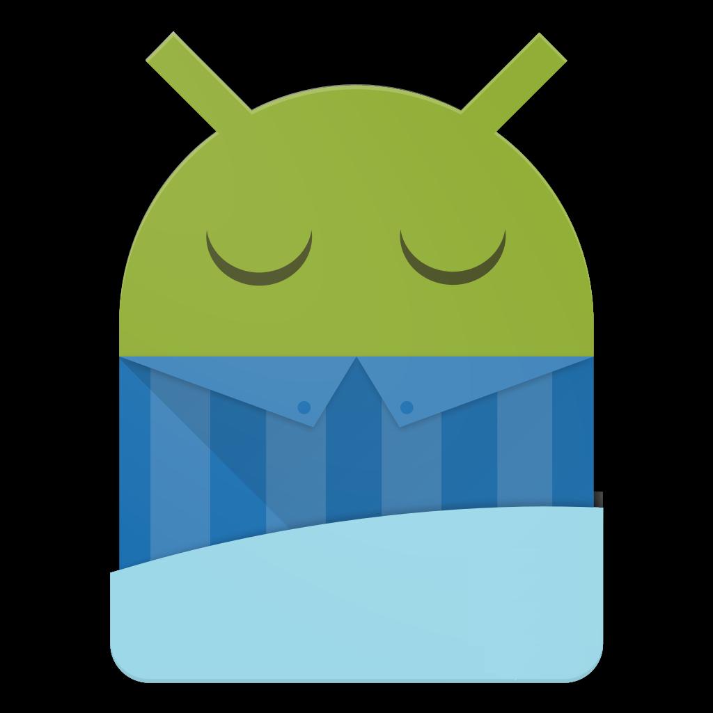 Android logo sleeping