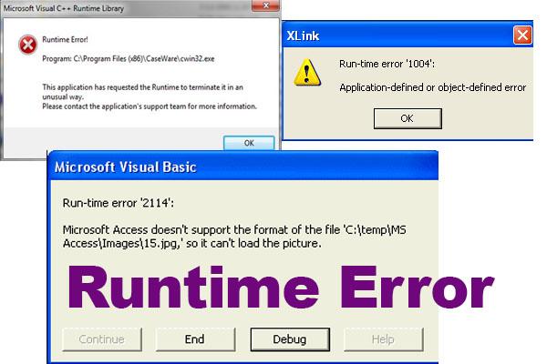 Jenis-jenis Runtime Error pada visual basic dan Penanganannya ~ Galeri Programer