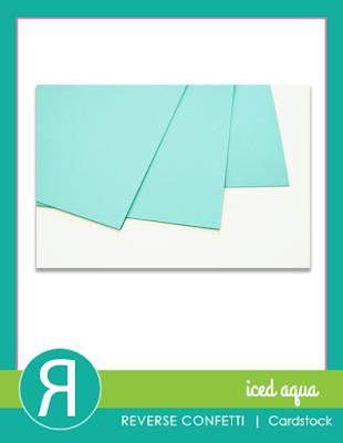iced aqua cardstock