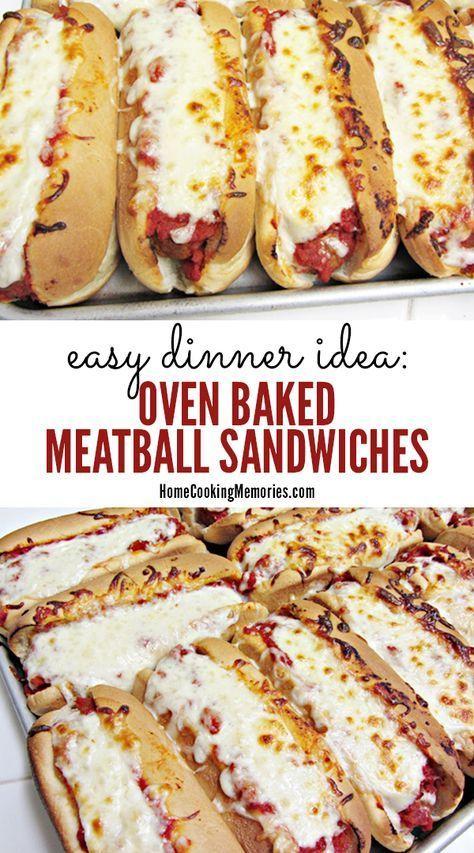 Easy Dinner Idea: Oven Baked Meatball Sandwiches Recipe #recipes #dinner ideas #dinnerideasfortonight #food #foodporn #healthy #yummy #instafood #foodie #delicious #dinner #breakfast #dessert #lunch #vegan #cake #eatclean #homemade #diet #healthyfood #cleaneating #foodstagram