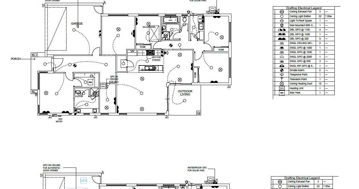 Building St Tropez 27 : Pre-planning of the electrical