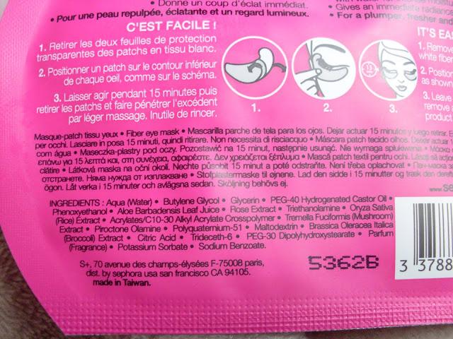 INCI maschere tessuto sephora