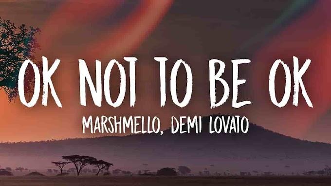 Ok Not To Be Ok Lyric - Marshmello & Demi Lovato