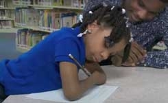 Virginia first-grader with no hands wins national handwriting contest