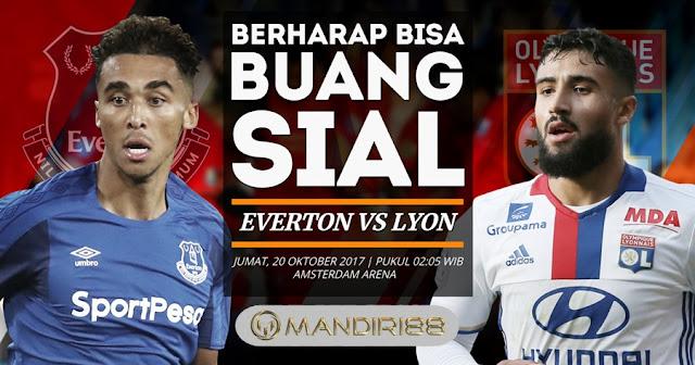 Baik Everton maupun Olympique Lyonnais akan tiba dengan objektif yang sama kala bersua  Berita Terhangat Prediksi Bola : Everton Vs Olympique Lyonnais , Jumat 20 Oktober 2017 Pukul 02.05 WIB