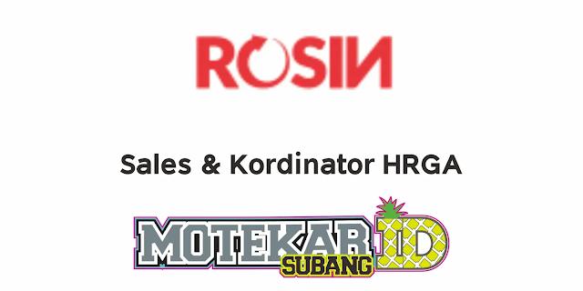 Info Loker Rosin Resto Subang 2021