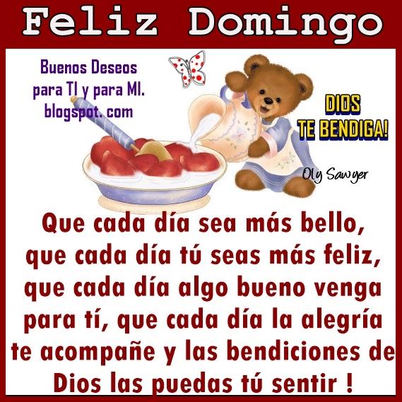 Que cada día sea más bello,  que cada día tú seas más feliz,  que cada día algo bueno venga para ti,  que cada día la alegría te acompañe  y las bendiciones de Dios   las puedas sentir !