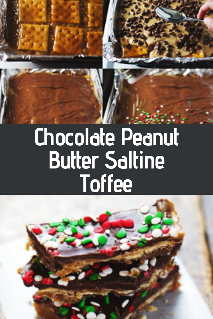 Chocolate Peanut Butter Saltine Toffee