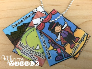 Brag tags can reward math fact mastery.