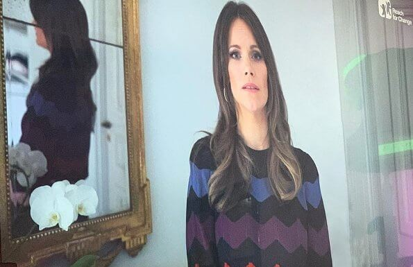 Princess Sofia wore By Malina Billie top, zigzag pattern sweater and skirt. Reach for Change Kinnevik Group