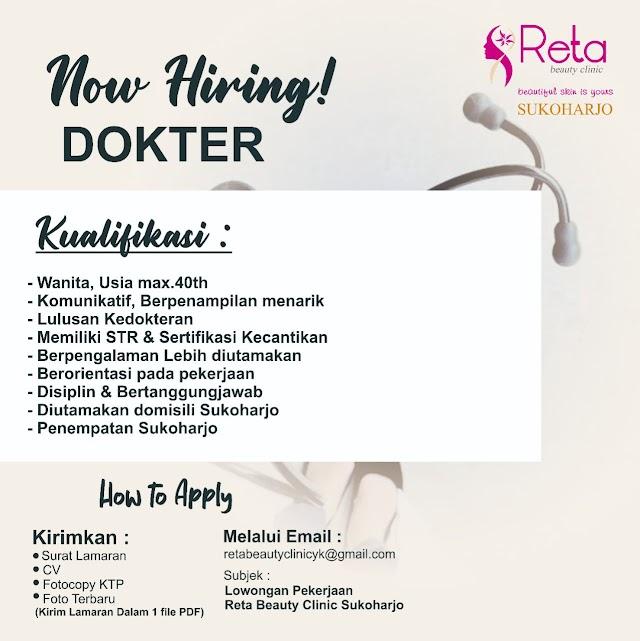 Loker Dokter Reta Beauty Clinic Sukoharjo- Jawa Timur