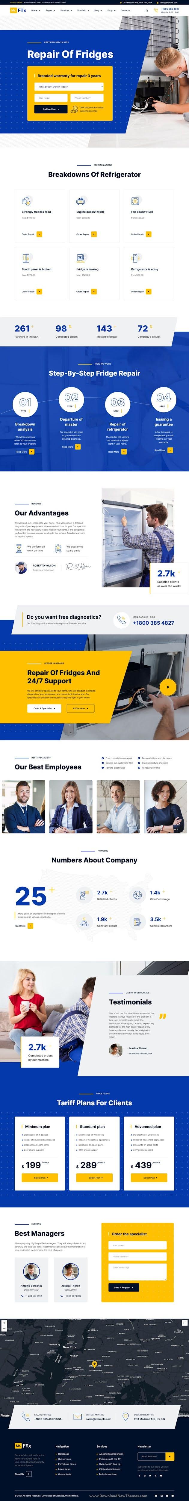 Appliances Repair Services WordPress Theme